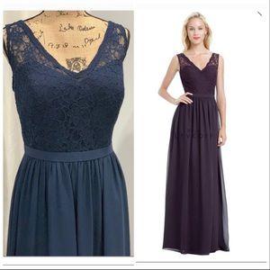 Bill Levkoff lace maxi dress size 14 NWT